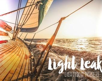 Light Leaks Lightroom Presets for Lightroom 5 6 CC, Light Leak Effect presets, Faded Film Effect Lightroom Presets Light leaks for Lightroom