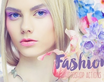 Fashion Beauty Magazine Photoshop Actions Premium Collection, Adobe Photoshop fashion actions fashion blogger fashion photography tools