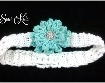 Custom Crochet Loopy Flower Headband Newborn-Adult Large
