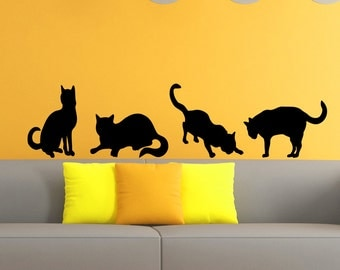 Amazing Cat Wall Decal Grooming Salon Decals Vinyl Stickers Animal Petshop Decor  Kids Room Nursery Bedroom Wall Part 24