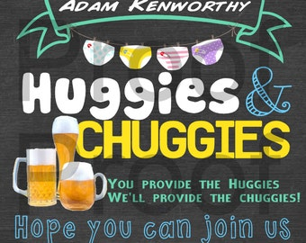Personalized Huggies and Chuggies Party Invitation Printable PDF