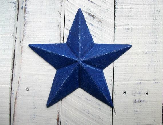 Items Similar To Navy Blue Cast Iron Star Wall Decor