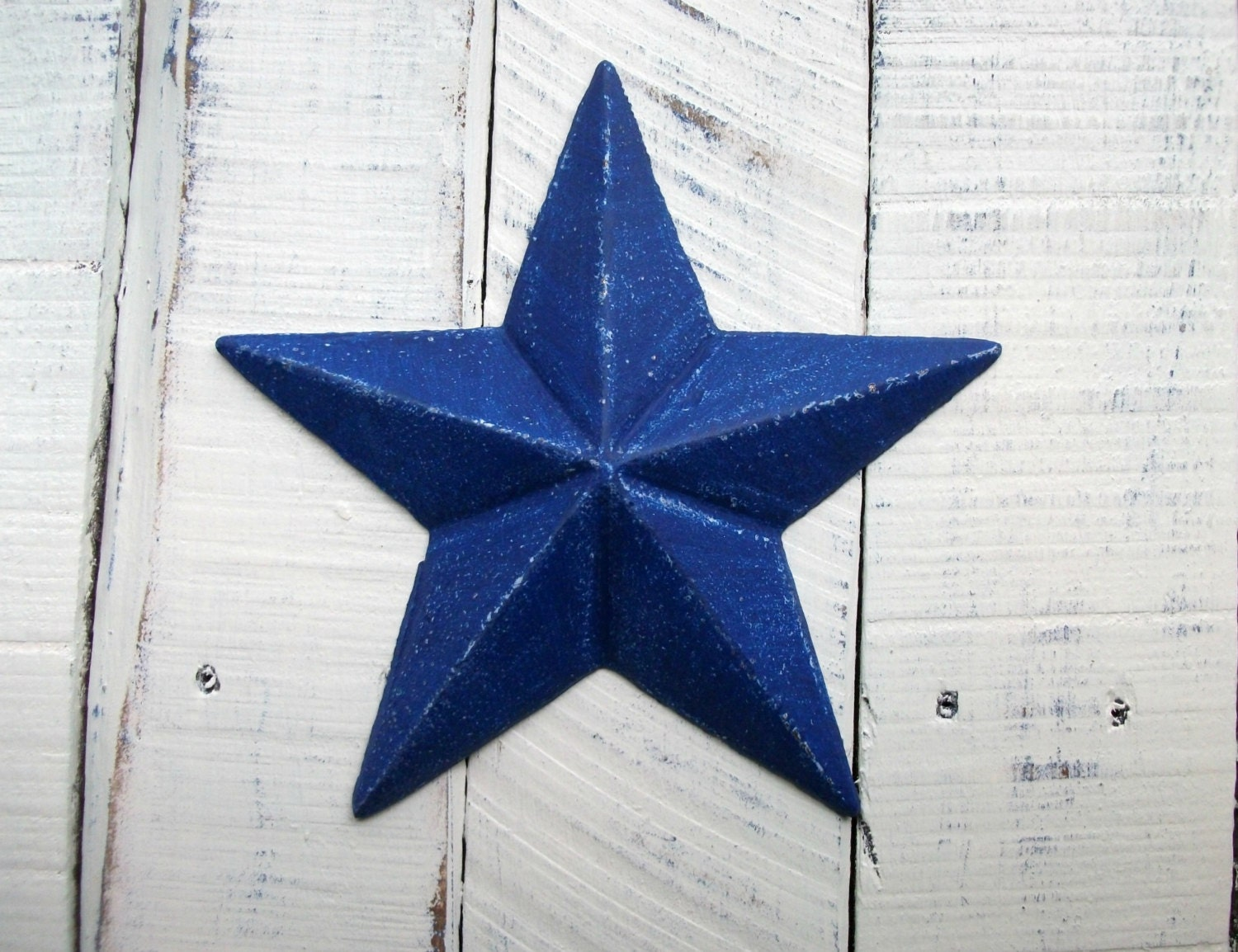 Blue Star Wall Decor : Navy blue cast iron star wall decor patriotic indoor outdoor