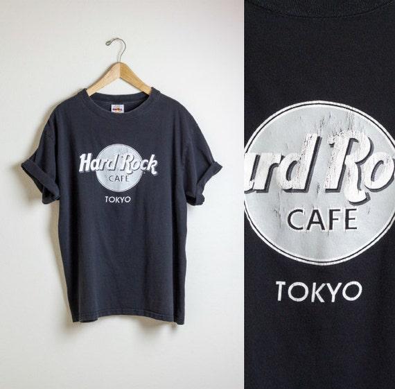 hard rock cafe tshirt tokyo shirt black tee retro. Black Bedroom Furniture Sets. Home Design Ideas
