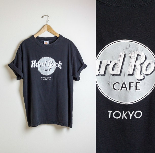 hard rock cafe tshirt tokyo shirt black tee retro. Black Bedroom Furniture Sets. Home Design Ideas