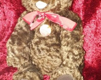 "Antique Steiff Bear #008504 genuine Mohair made in Germany 12 "" beautiful Bear with tags"