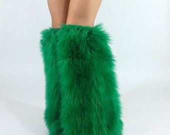 Fur Leg Warmers *above-the-knee* FREE SHIPPING : Handmade Legwarmers, Fur Boot Covers, Furry