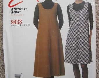 UNCUT Misses Jumper and Top - McCalls Pattern 9438