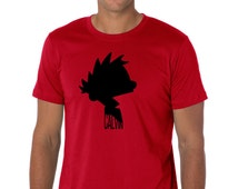 Calvin Silhouette from Calvin & Hobbes Comic Strip Mens/Womens or kids Unisex Pre Shrunk Cotton T-Shirt. Multiple Colors Available.