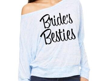 Bridesmaid Shirts. Bridal Party Shirts. Bachelorette Party shirts. Bride's Bestie Shirt. Bride's Best Friend Shirt. Bridal Entourage Shirt