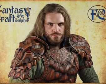 Leather armor pauldron Dragon Hunter