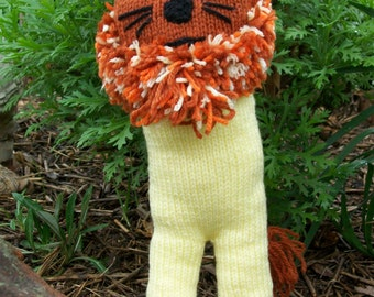 Hand Knitted Wild Lion
