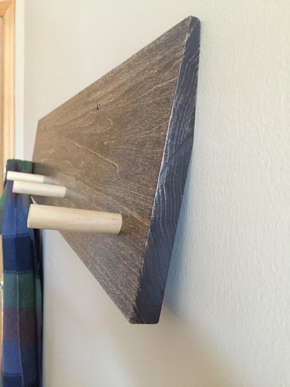 Modern Coat Rack Wall Mounted Wood Coat Rack