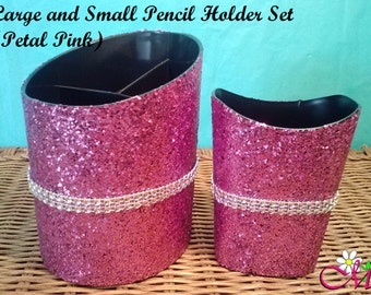 Glitter Pencil Holders, Pencil Cup, Glitter Office Supplies, Desk Accessories, (Plastic), (Your Choice of Color), Pencil Holder