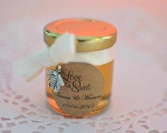 Honey Bee Charm Jar Wedding Favour x50