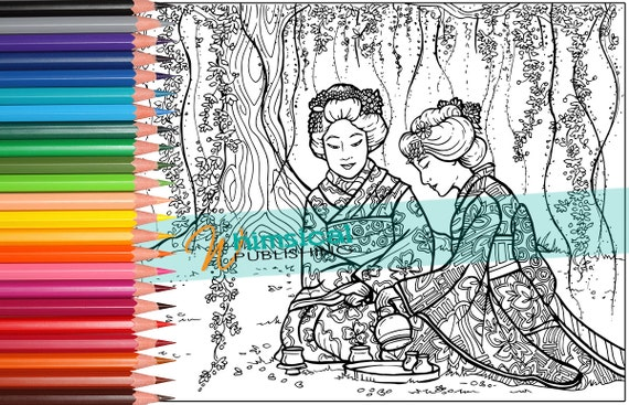 Adult Coloring Pages Japanese Coloring Page By