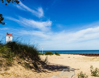 standout mounted photographic print - Sable Point, Ludington, Michigan