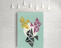 Wall art, geometric print, abstract art prints, affiche scandinave, extra large wall art, large digital print art, wall art poster