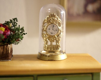 Dollhouse tabletop anniversary clock dolls house livingroom decoration 1 12th scale miniature