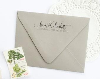 Address Stamp - custom address stamp - return address stamp - calligraphy address stamp - custom stamp - rubber stamp - Z1043