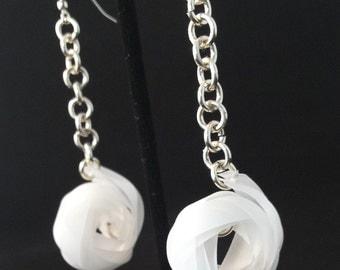 Vellum Braid Earrings with Chain
