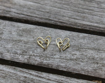 Wire Heart Clip-On Earrings