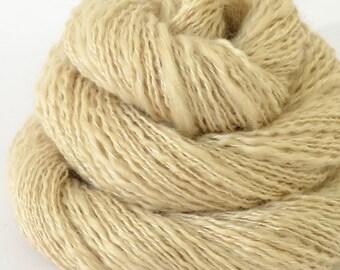 Handspun Yarn - Cashmere and Silk Yarn - Russian Spindle Spun Yarn - 1oz, 170yd, 17WPI, Lace