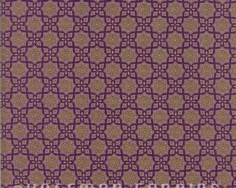 Alchemy Medallions Purple Gold Hoffman Fabric 1 yard