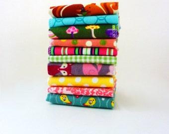Cloth Napkins - Childrens Napkins - Lunch box Napkins - Childs Napkins - Kids Cloth Napkins - Set of 5 or 10 - Forest Animals - Girls