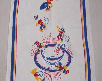 Vintage Towel Elves Prepare Your Morning Coffee