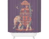 Elephant, Shower Curtain, Trunk of Treasures, Beautiful Animal Shower Curtain, Made in USA - Great Decoration Gift for Bathroom