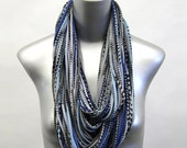 Blue Scarf, For Her, Statement Necklace, Gifts For Her, Tribal, Infinity Scarf, Birthday Gift, For Girlfriend, Womens Gift, Gift Ideas