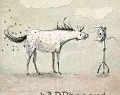 "Happhazard.  Appaloosa horse art collage.  Dana's Doodles 8"" x 8"""