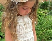 Ivory and Lace Pintuck Sundress Size 12 months to Size 12