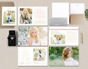 Senior Magazine Template - Senior Photography Magazine Template - High School Graduation - Photo Marketing Templates - Digital Pricing