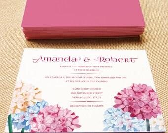 Printable Wedding Invitation, Hydrangea wedding, DIY printable invitation, Print your invitation, Printable invitation, wedding Invitation