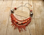 NECKLACE tribal statement necklace Goddess Kali, goddess of power, one of a kind OOAK handmade