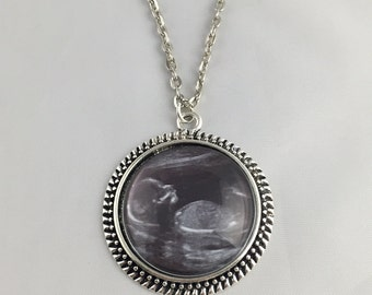 Baby Sonogram Necklace - Baby Sonogram Key Chain - Your Baby's Sonogram - 5 Finishes Available