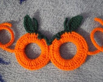 Free Shipping Crochet Halloween Costume Pumpkin Mask