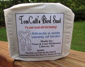 Bird Suet, Bird Suet Cake, Bird Food, Natural, Organic Suet, Homemade Suet, ONE Cake, Bird Feed, Organic, Woodpecker, Wild Birds