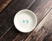 Engagement Ring Holder Dish Initials Perfect Gift For The Bride