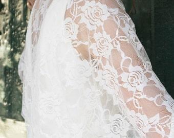 Plus size bridal shawl, XL wedding shawl, brides shawl and wrap, summer bride shawl, white lace shawl