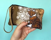 Fox Zentangle Design Wristlet