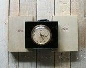 Vintage Black Glass Mantel Clock