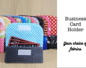 Business Card Holder for Camera Strap - Choose Custom Fabrics - Made to Order