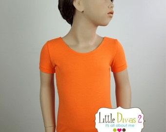 Orange Leotard-Ballet Short Sleeve Leotard (Children's)