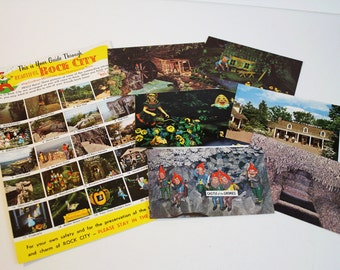 Vintage Rock City Postcards (lot of 7)