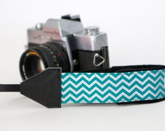 Camera Wrist Strap - Camera Hand Strap - Nikon Strap - Camera Gifts - dslr Camera Strap - Canon - Metallic Teal & Silver - READY TO SHIP