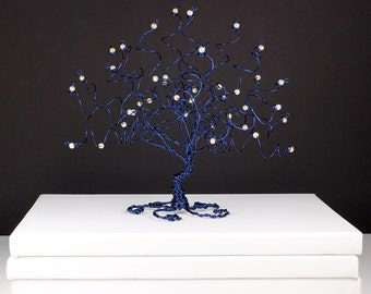 Starry Night Wire Tree Sculpture Van Gogh Painting Inspired Wire Art