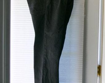 mens black jeans  pants size 36 x30